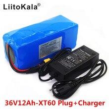2019 nouveau LiitoKala 36 V 12AH batterie vélo électrique intégré batterie au Lithium BMS 20A 36 volts avec 2A batterie Charge Ebike XT60