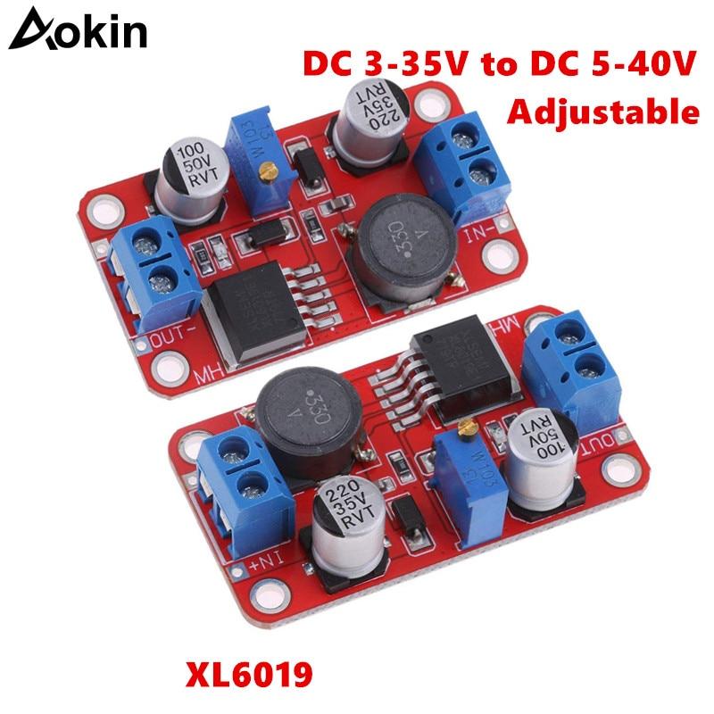 XL6019 step-up Dc a Dc 3-35V a 5-40V convertidor ajustable módulo de fuente de alimentación 5A Max Step Up convertidor de fuente de alimentación