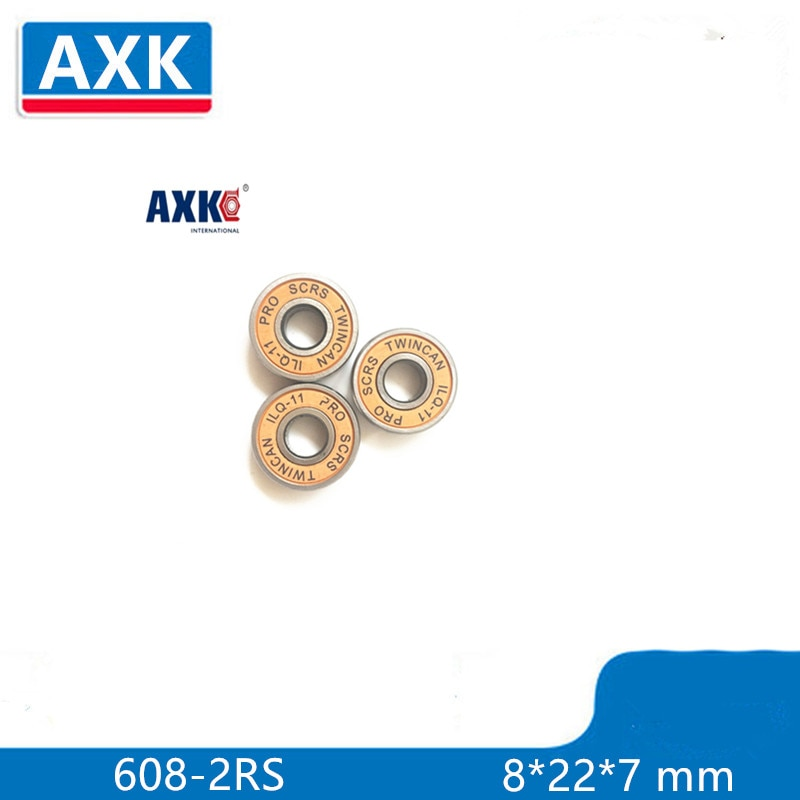 8pcs ABEC 11  popular brands 8*22*7 mm clunt AXK skate bearing 608rs for skateboard