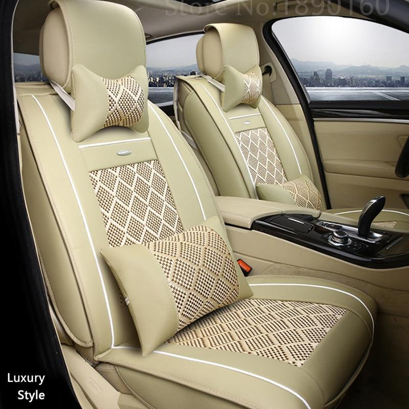 Breathable Leather car seat covers For Skoda Octavia Fabia Superb Rapid Yeti Spaceback Joyste Jeti car accessories car sticker