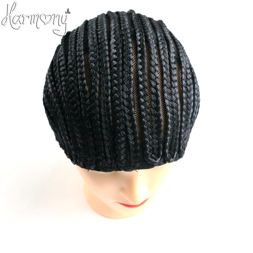 ONLY 1 PIECE Black FreeTress Braided Cap For Crochet Synthetic Braiding Wigs and Weave S M L three sizes