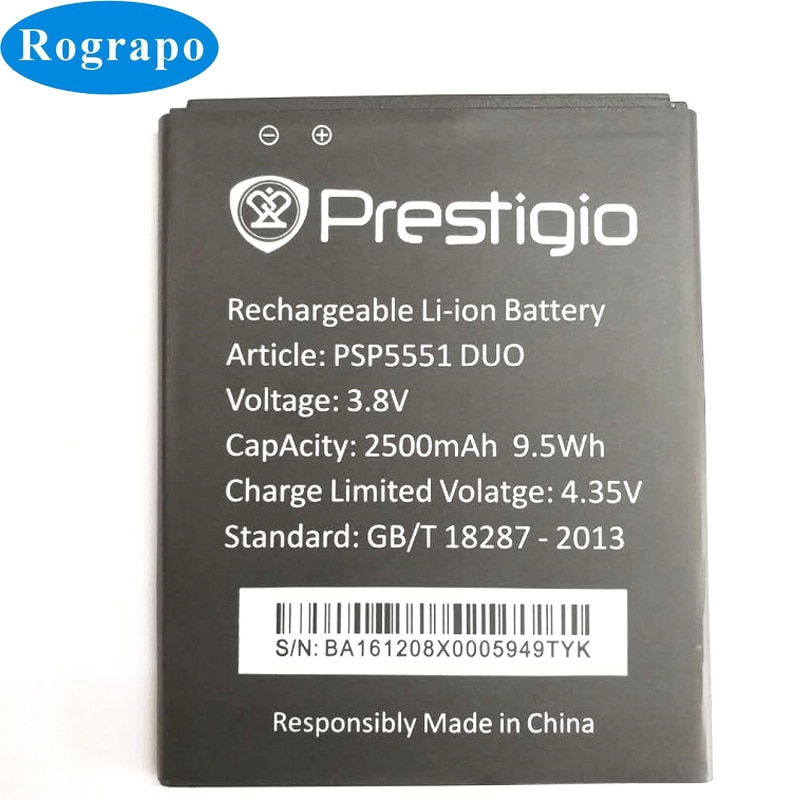 New 2500mAh Replacement Battery For Prestigio Grace S5 LTE PSP5551DUO PSP5551 PSP 5551 DUO Bateria Batterie Cell Phone Batteries недорого