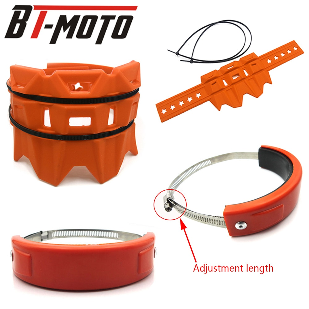 Accesorios de motocicleta ajuste Universal 100MM-140MM Oval Protector de escape puede cubrir para HONDA CB 300F CB400F CB500F CB500X negro