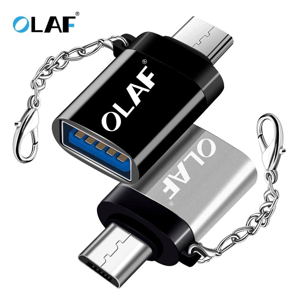 La OLAF OTG Micro USB Cable adaptador de Cable para Xiaomi Redmi nota Samsung Android convertidor de carga USB 2,0 Microusb OTG conector de Cable