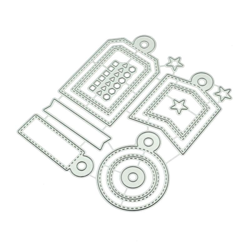 Marcas Feliz Natal Xmas DIY Saudação 3D Quadro Gravura Faca De Metal Cortando Scrapbooking Morre Artesanato Decoração Da Foto