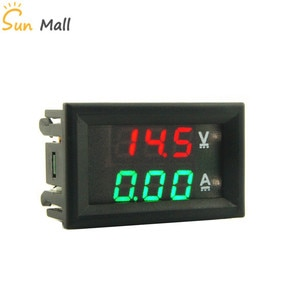 Светодиодный цифровой вольтметр Амперметр постоянного тока 100 в 10 А красно-зеленый 0,28 дюйма индикатор напряжения