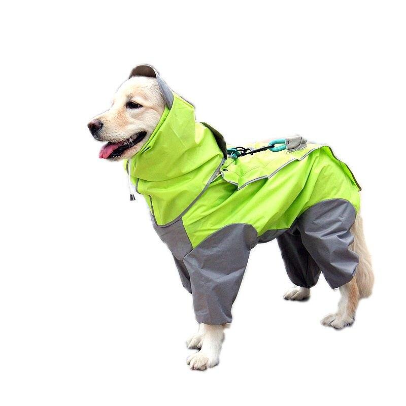 Large Dog Raincoat Waterproof Dog Coat Jacket Clothes Rainwear Dog Jumpsuits Poncho Clothes for Golden Retriever Labrador Husky
