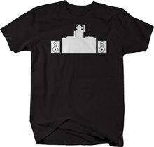 Club DJ haut-parleurs platines t-shirt manches courtes t-shirt hommes