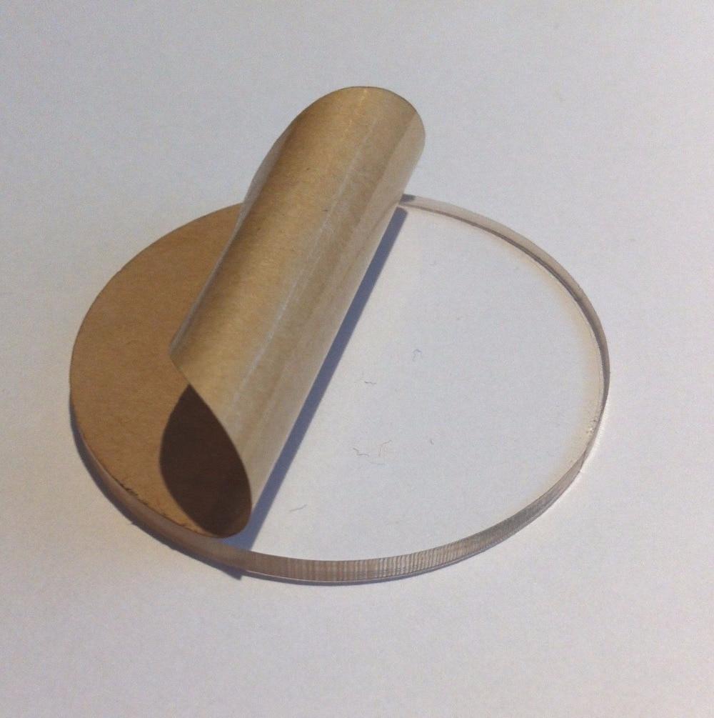 Прозрачные Литые акриловые диски диаметром 110 мм для ювелирных изделий, 5 мм
