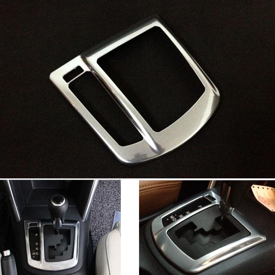 ABS Chrome Interior Gearshift bolsa de cambio de marchas cubierta embellecedor Panel apto para Mazda CX-5 2012 2013 2014 accesorios para volante a la izquierda estilo de coche