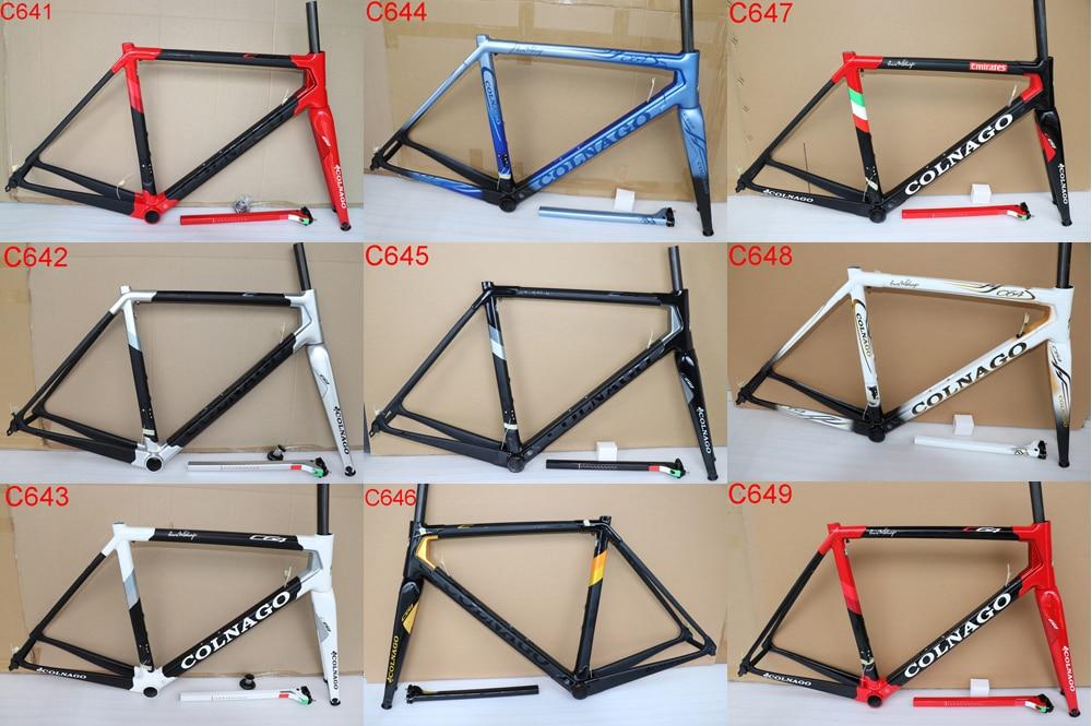 Colnago C64 carretera cuadro de bicicleta de carbono UD 20 colores de cuadros de bicicleta T1100 de carretera de carbono marco tenedor + sillín + auricular