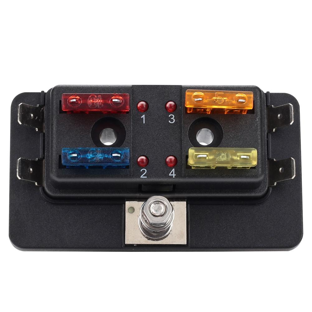 Caja de fusibles para coche 32v 4, compartimento de motor Universal para Nacelle, Kit de seguridad de repuesto