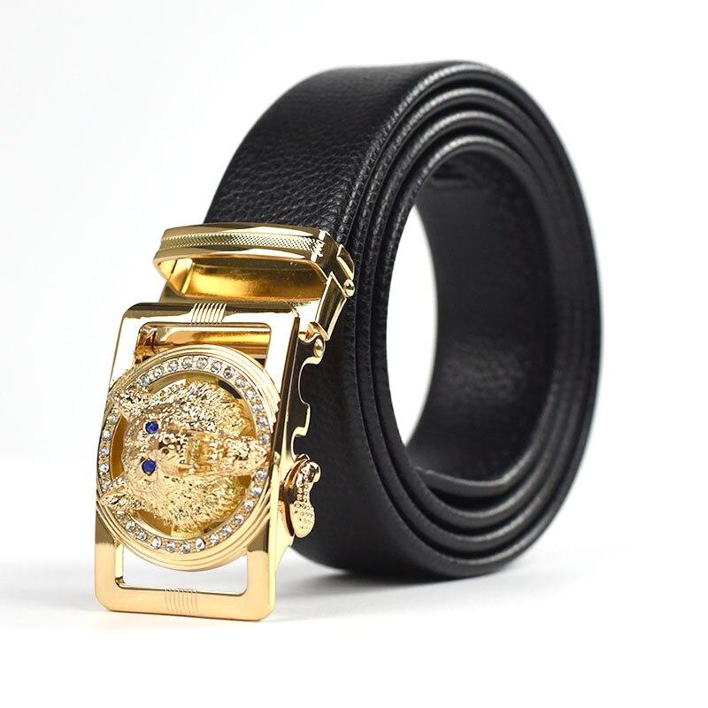 ¡Nuevo y popular! Cinturones de diseño de marca de alta calidad con hebilla automática de piel de vaca de lujo jaguar wolf cinturón h 1258 para hombre