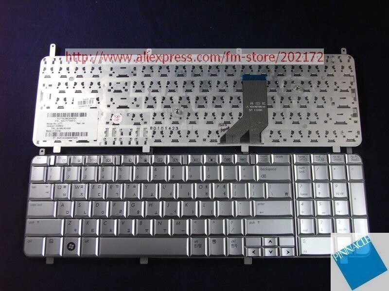 Brand  New  Silver  Laptop  Notebook Keyboard 509474-AD1 AEUT7Y000100  For HP HDX X18   series (Kore