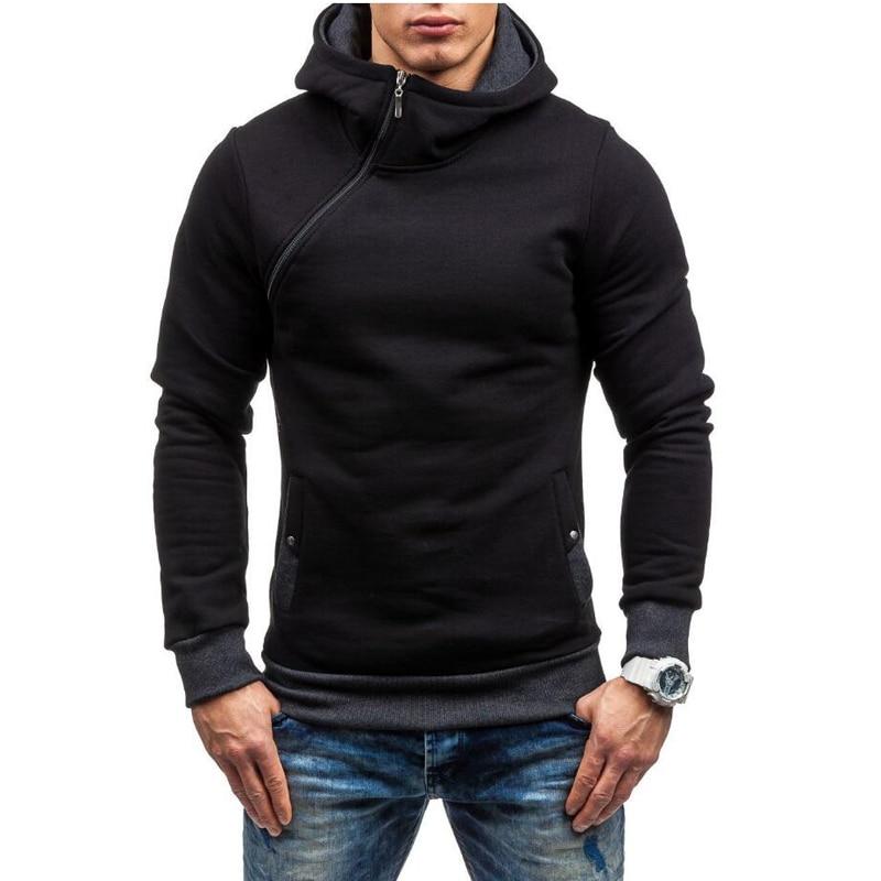 Sudadera con capucha de marca 3D para hombre, de manga larga, con capucha y cremallera