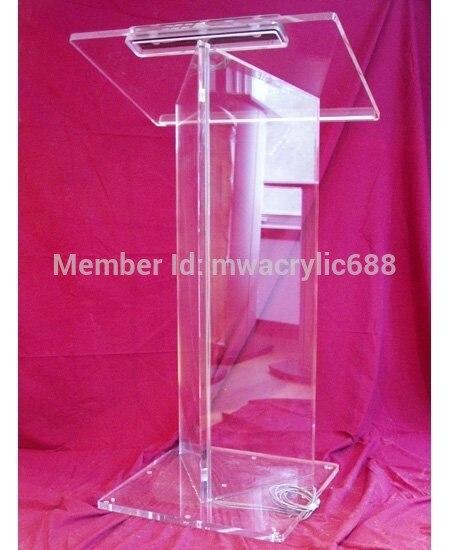Pulpit, muebles, envío gratis, alta calidad, precio razonable, hermoso podio acrílico, púlpito, atril Acrílico