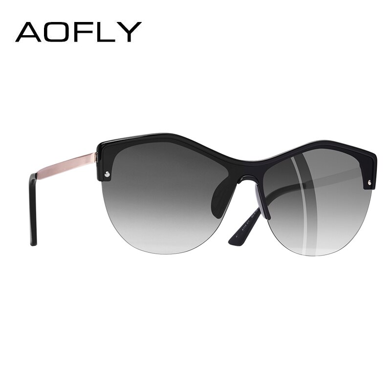 AOFLY BRAND DESIGN Women Cat Eye Sunglasses Female Retro Style Shades UV400 Sunglasses Oculos de sol Feminino A113