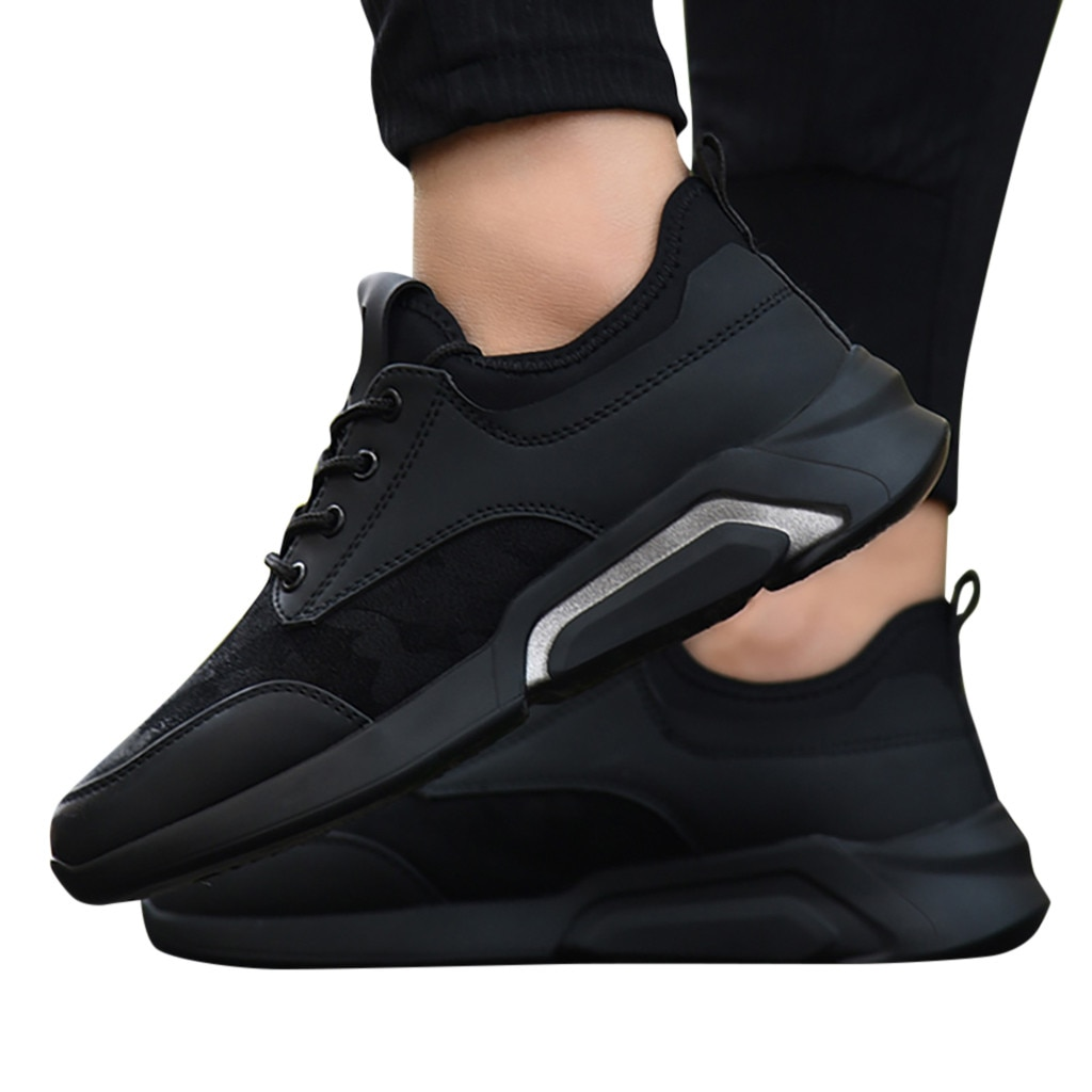 CHAMSGEND New Men's casual and comfortable breathable shoes running shoes sports shoes students lightweight wild running shoes