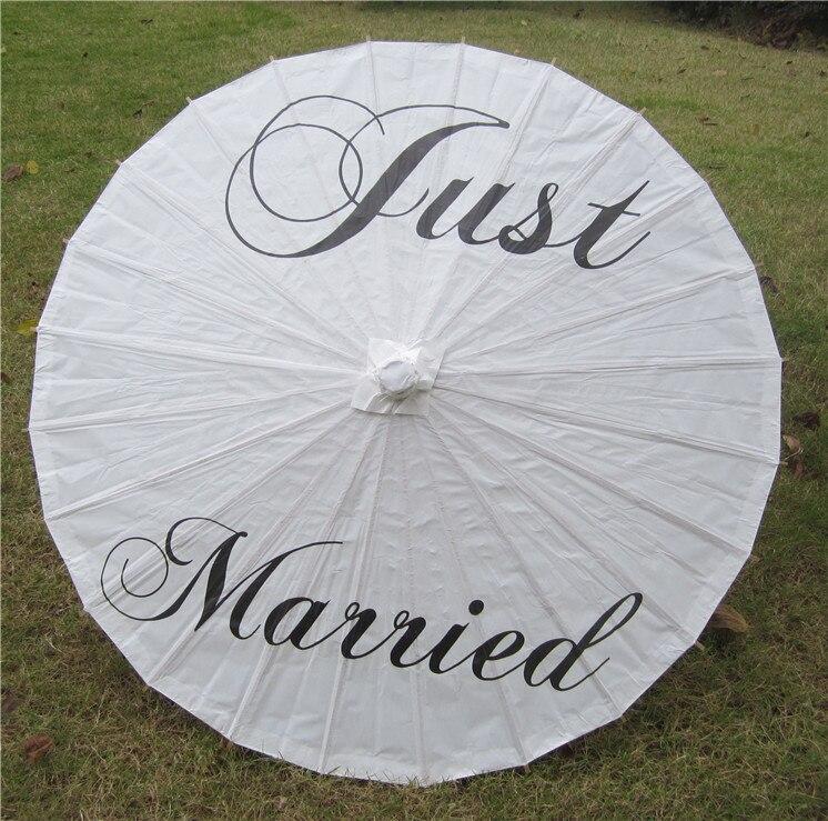MR & MRS Chicinlife 1 pcs just Married guarda-chuva de papel Adereços de Casamento Decoração de Festa de Casamento