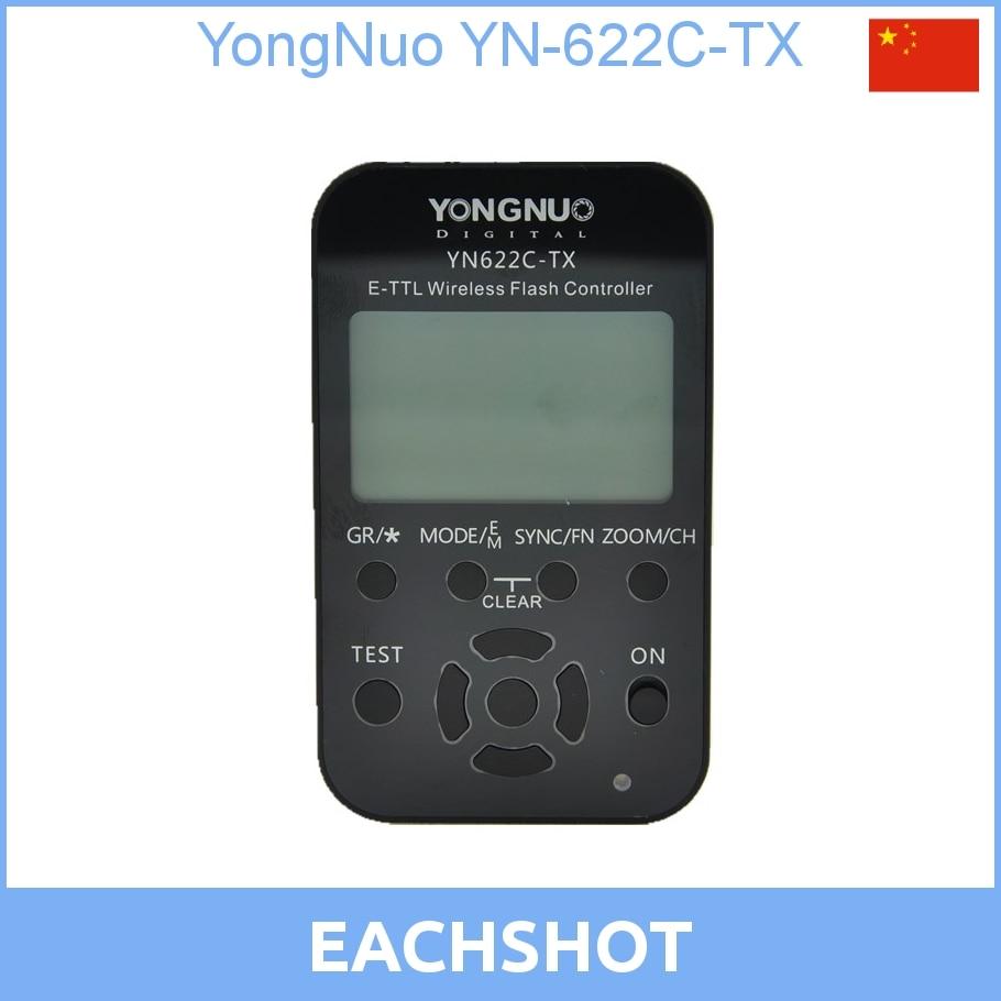 YongNuo YN-622C-TX, YN622C-TX, YN-622CTX E-TTL controlador de flash inalámbrico LCD disparador de flash inalámbrico para Canon DSLR
