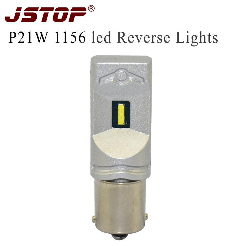 Автомобильные светодиодные фонари заднего хода JSTOP 7,5 Вт 6000 лм 1860SMD 1156 K, белые фонари P21W BA15S без ошибок, CAN-шина 12-24 В, Автомобильные светодиодн...
