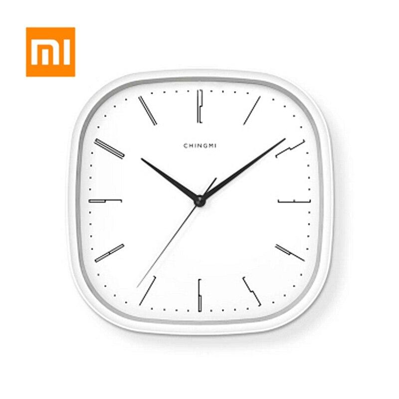 Xiaomi-ساعة حائط Youpin Mijia ، بسيطة ، معلقة ، صامتة ، مستديرة ، مستطيلة الشكل ، عصرية ، للمكتب ، غرفة النوم ، ديكور المنزل
