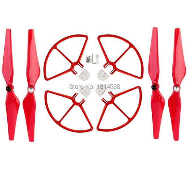 BLL DJI Phantom 3 Phantom 2 Phantom 1 9450 aerial Quadcopter red paddle and self-locking quick-release protection ferrule