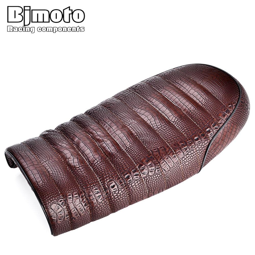 BJMOTO Moto Bike Flat Brat Cafe Racer Seat For Suzuki KZ400 KZ550 K750 Z650 W650 SR500 XJ550 XJ650 XS650 CB CL Motorcycle Seat
