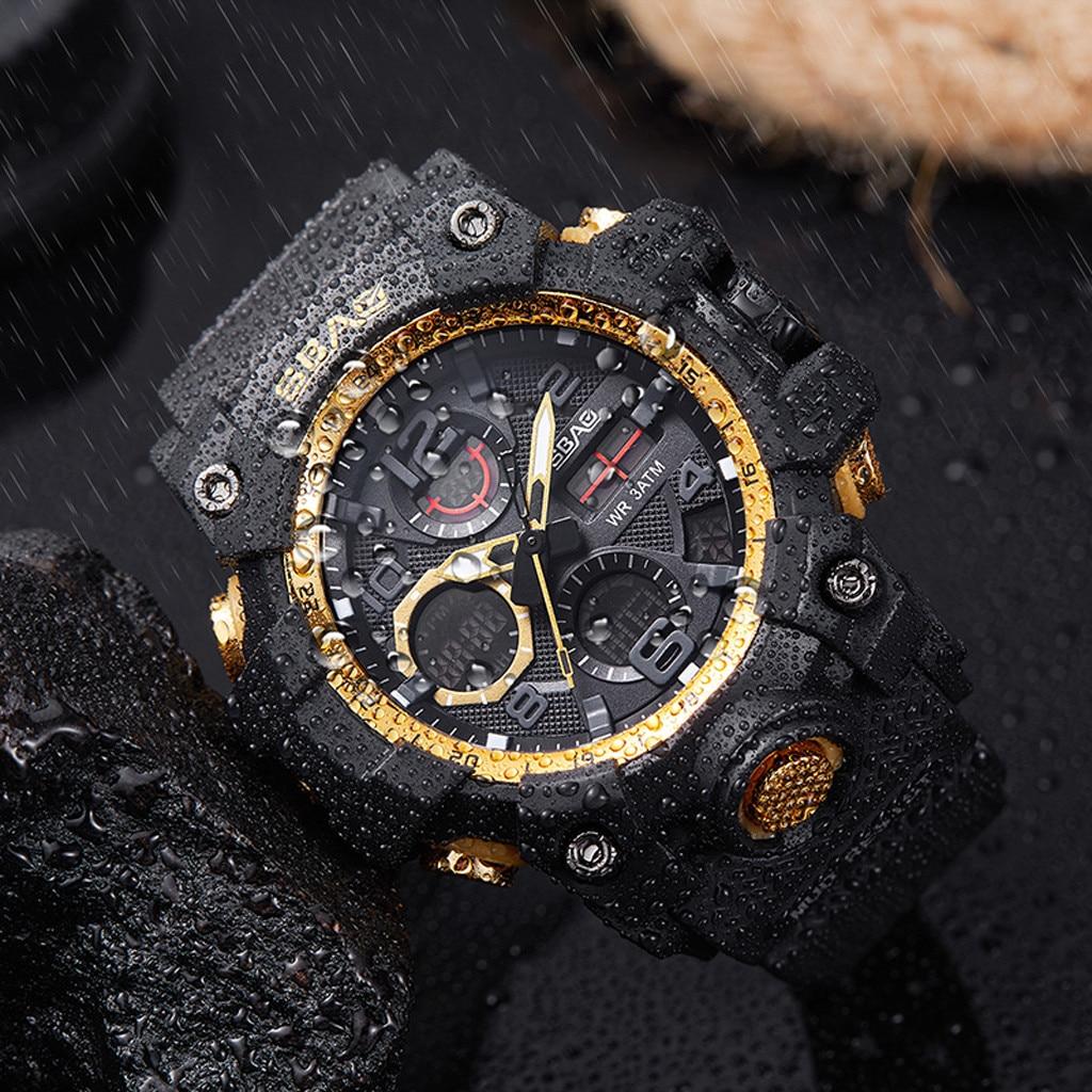 Relojes deportivos digitales LED para hombre, relojes de pulsera de cuarzo de TPU, reloj electrónico de moda gif para hombre, relojes de vestir con logotipo para hombre