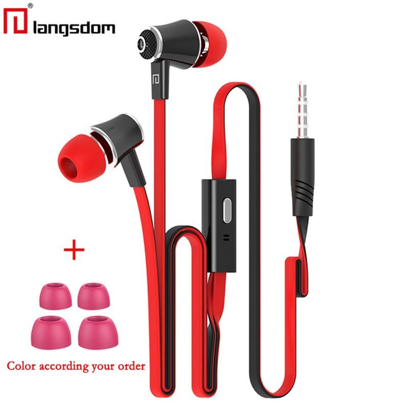 Original Langsdom JM21 JV23 earphones with Microphone Super Bass Earphone Headset For iphone xiaomi huawei Phone earphone Wired