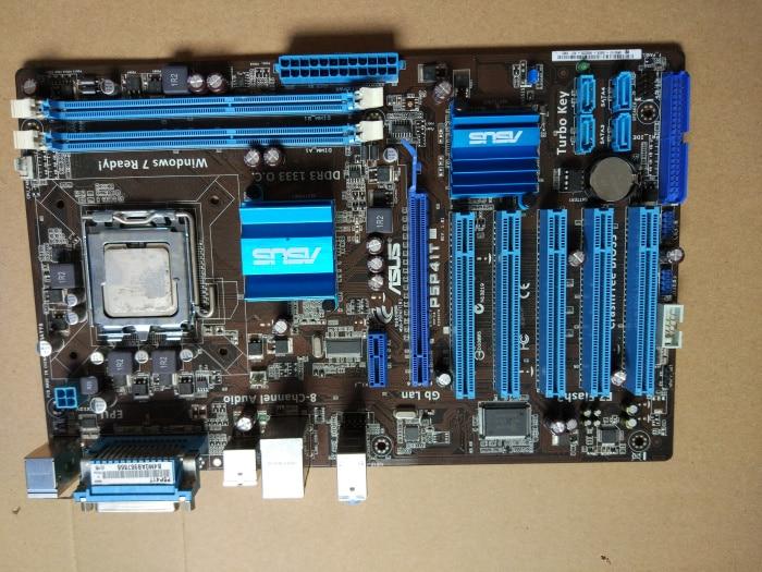Placa base de escritorio usada Original Asus P5P41T, G41, Socket LGA 775,...