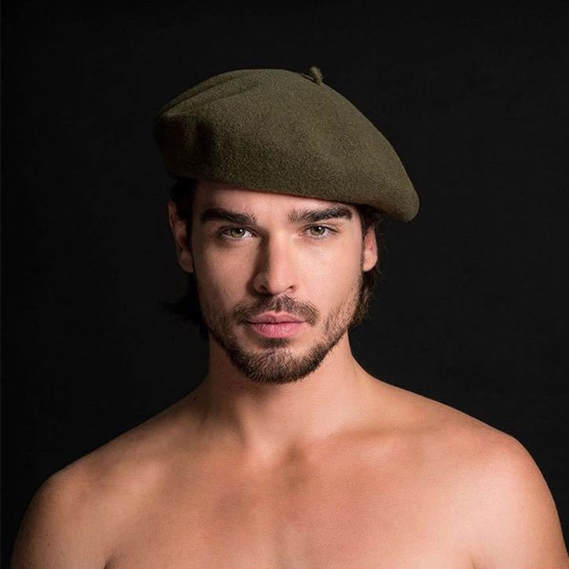 2018 dualuse pintor chapéus 100% lã boina inverno masculino formal wear profissional casual dualuse boné de alta qualidade masculino chapéu quente