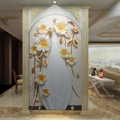 Large 3D murals wall paper white vase Flower Papel Murals 3d Wall murals Wallpaper for living room 3d Photo Mural