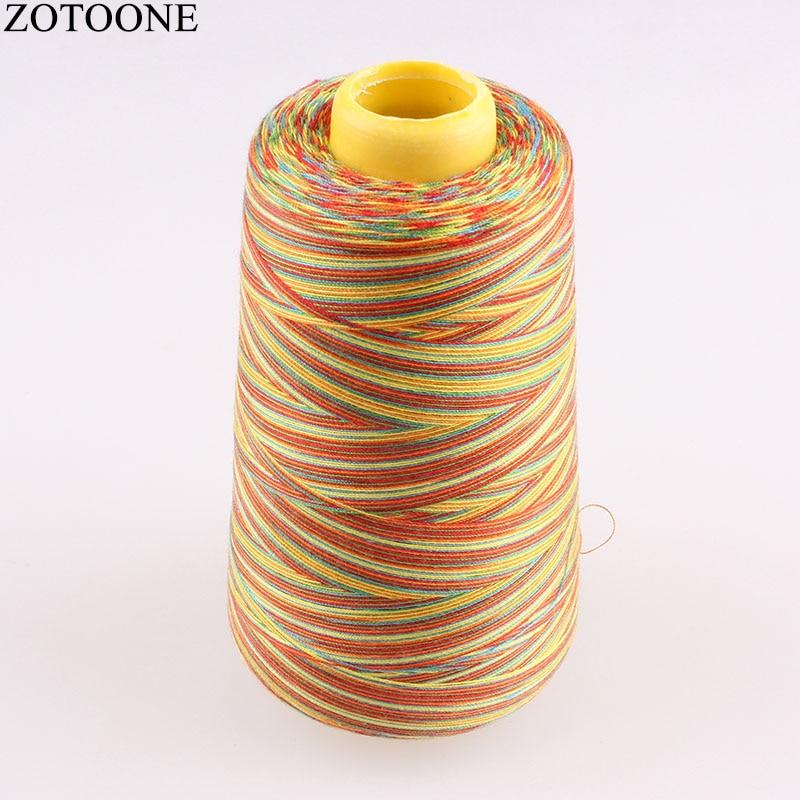 ZOTOONE 40S/2 hilo de coser de poliéster de 3000 yardas hilo de coser colorido para Tela de cuero accesorios de hilos de coser C