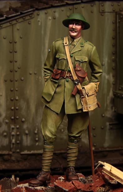 [Tuskmodel] 1 35 resina Kit de figuras en miniatura WW1 Espana Tank Crewman t1103
