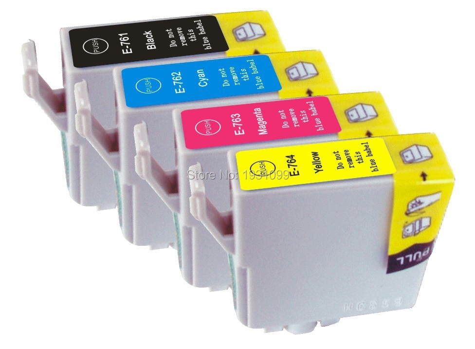 YOTAT Kompatibel tintenpatrone für Epson T0761 T0762 T0763 T0764 für Epson Stylus M200/C58/CX2800/ME2/ME 200