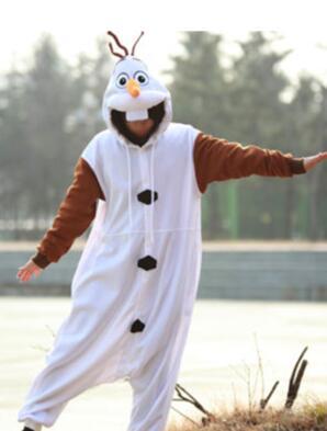 زي رجل الثلج من Anime Olaf ، بيجاما تنكرية ، بذلة بيضاء للبالغين ، بيجاما للحفلات NL1601