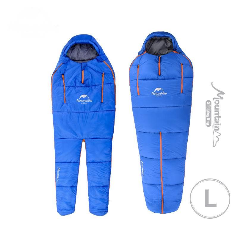 Naturehike, 10 grados, diseño de forma humana, sacos de dormir individuales, saco de dormir de algodón, para acampar, puede empalmar sentarse a caminar