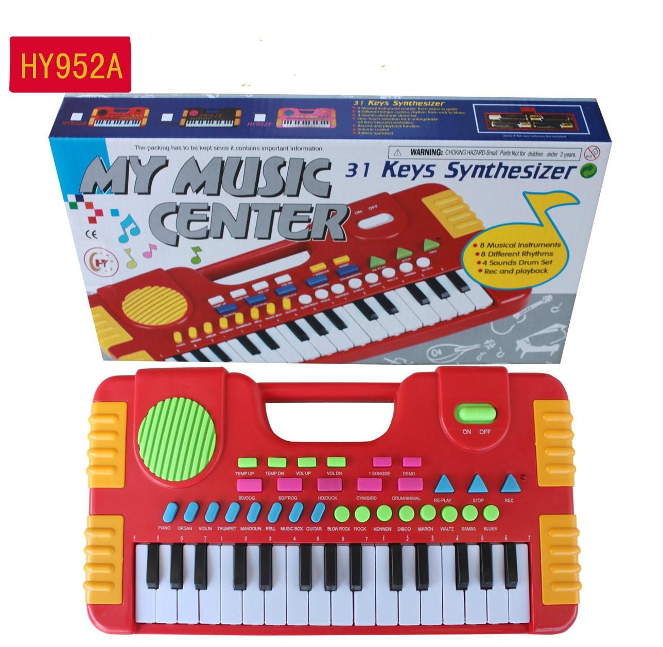 31 teclas, juguetes musicales para niños, instrumento Musical portátil para niños, teclado de Piano Electrónico, juguetes educativos para niña