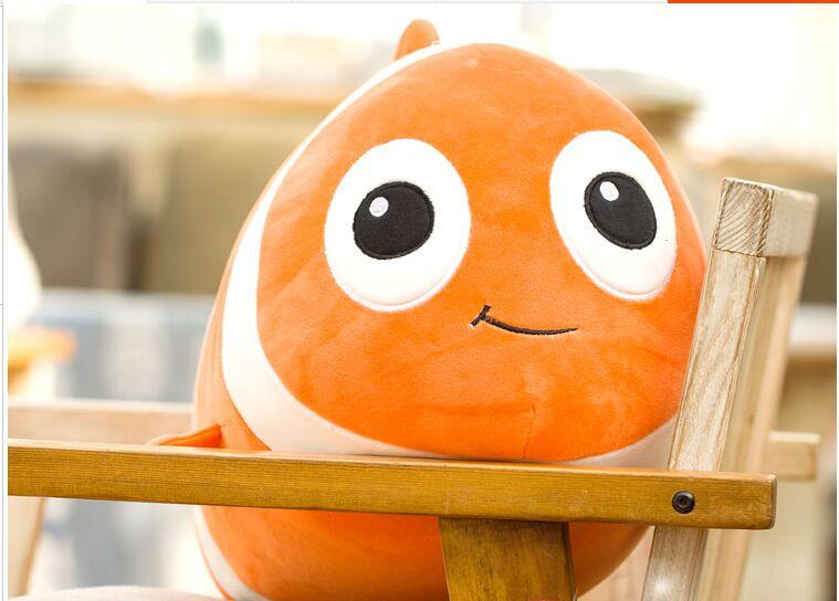 small cute plush clownfish toy creative Clownfish pillow gift about 40cm