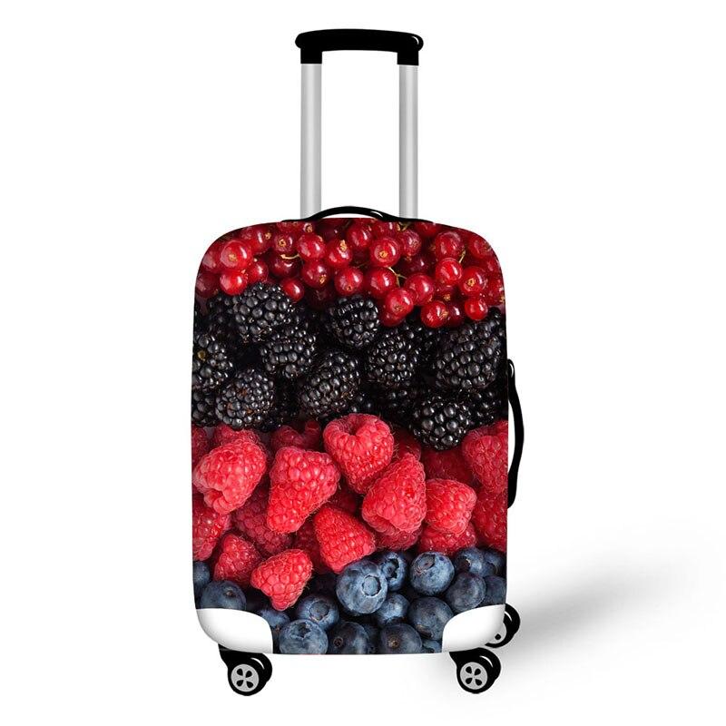 Fruits nourriture imprimer voyage bagages valise housse de protection extensible étanche portable bagages couvre couverture de pluie