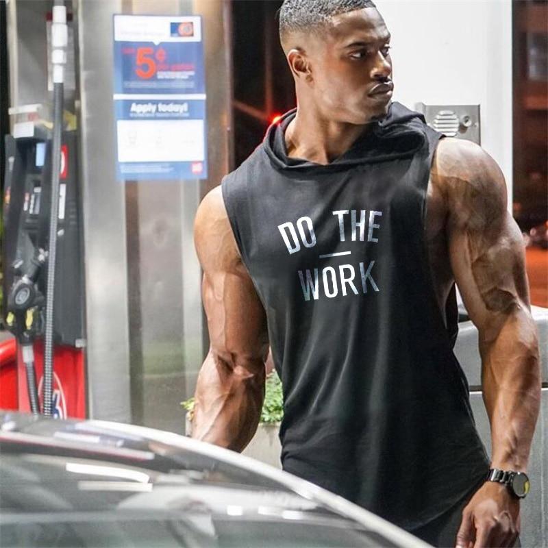 Marca Muscleguys ropa culturismo Sudadera con capucha camisa Fitness hombres camiseta sin mangas chaleco muscular Stringer camiseta interior DO THE WORT TankTop