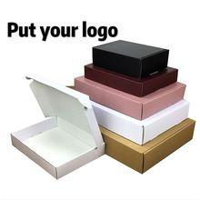 50 stuks papier doos Wit Zwart Kraft doos voor verpakking Bruin handgemaakte cadeau zeep papier dozen snoep geschenkdoos