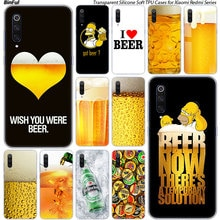 Heißer Spaß Bier Glas Silikon Fall Für Xiaomi Pocophone F1 9 T 9 9SE 8 A2 Lite A1 A2 Mix3 redmi K20 7A Note 4 4X5 6 7 Pro S2 Abdeckung