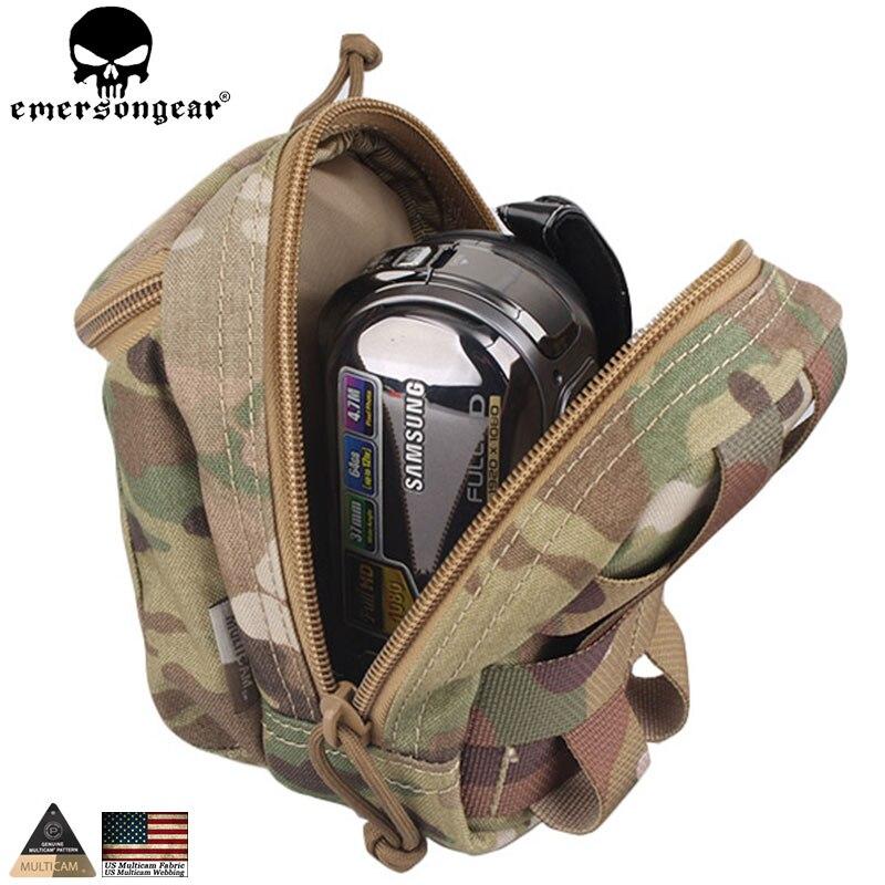 EMERSONGEAR, bolsa de cintura multipropósito, bolsa EDC para dispositivos de utilidad, riñonera Molle, bolsa de teléfono inteligente para cámara Digital EM8349