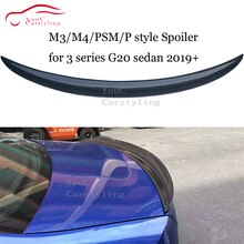 NEW M3/M4/P/PSM Style G20 Carbon Fiber Spoiler For BMW 3 Series G20 4-Door Sedan 2019 + Rear Trunk Boot Lip Wing 330i 340i