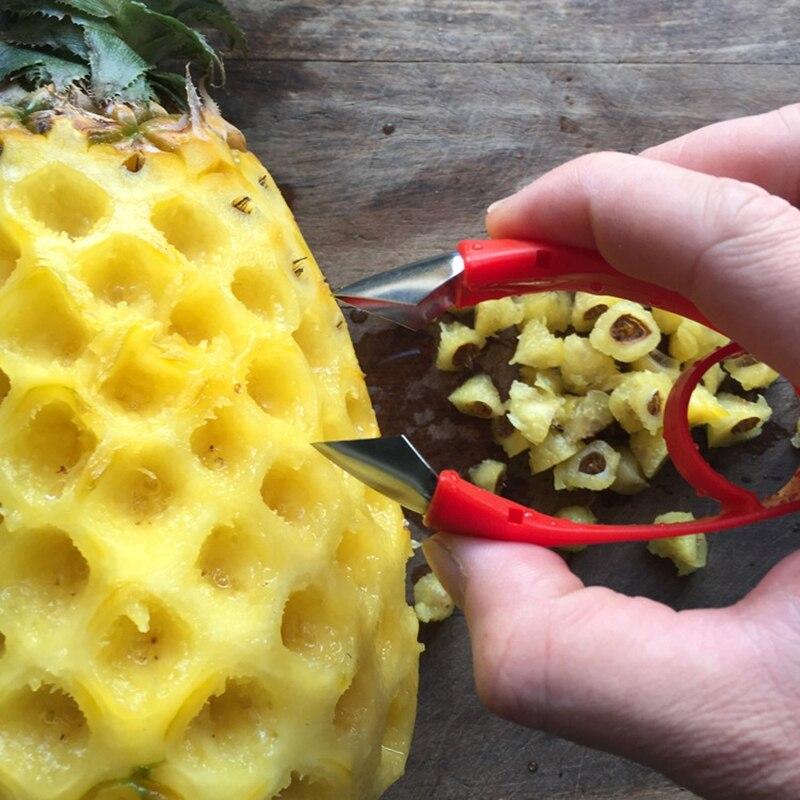 Нержавеющая сталь ананас Овощечистка резак слайсер корер кожура основной инструмент ананас глаз фрукты приспособление для овощей Кухонные Принадлежности