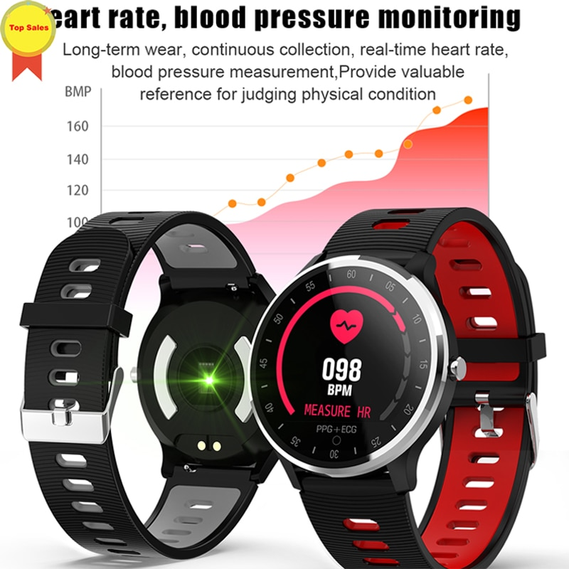 new Smart Watch Woman SmartWatch ECG PPG Heart Rate Blood Pressure Reminder Display Smart band Bracelet Fitness Wristband PK B57