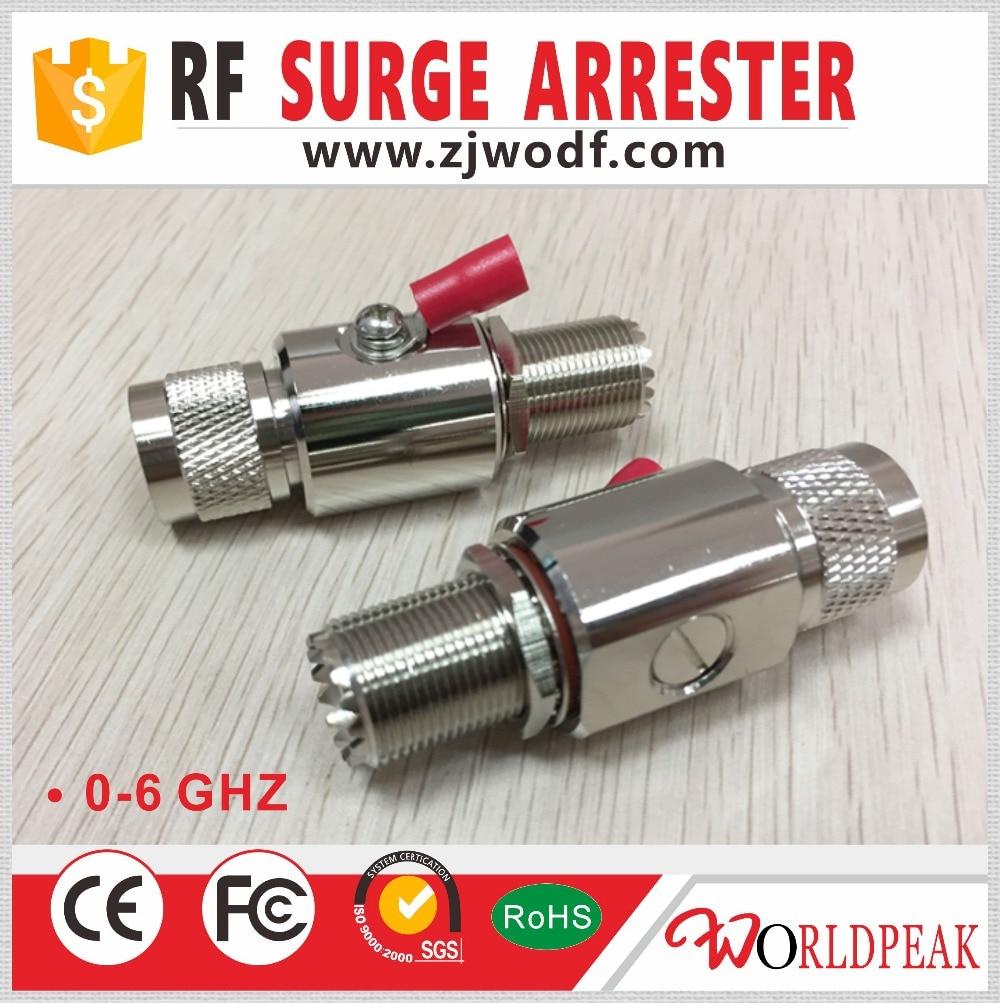 شحن مجاني 1 قطعة 0-3GHZ UHF ذكر التوصيل إلى UHF أنثى جاك موصلات surger صواعق البرق حامي