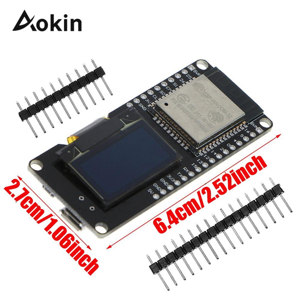 ESP32 OLED For Arduino ESP32 OLED WiFi Module with Bluetooth Dual ESP-32 ESP-32S ESP8266 OLED